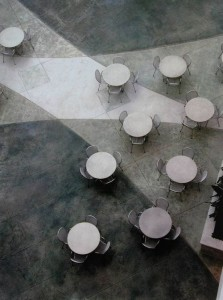 260Showplace look down on tables